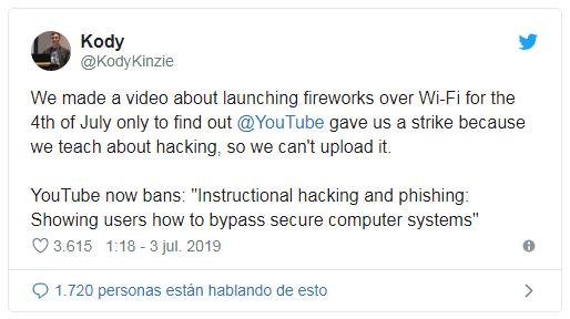 Youtube se endurece: eliminará videos sobre Hackeo y Pirateo 1562261128164-png.364447