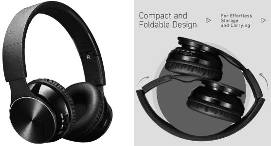 Auriculares Bluetooth de diadema Plegables de VicTsing.
