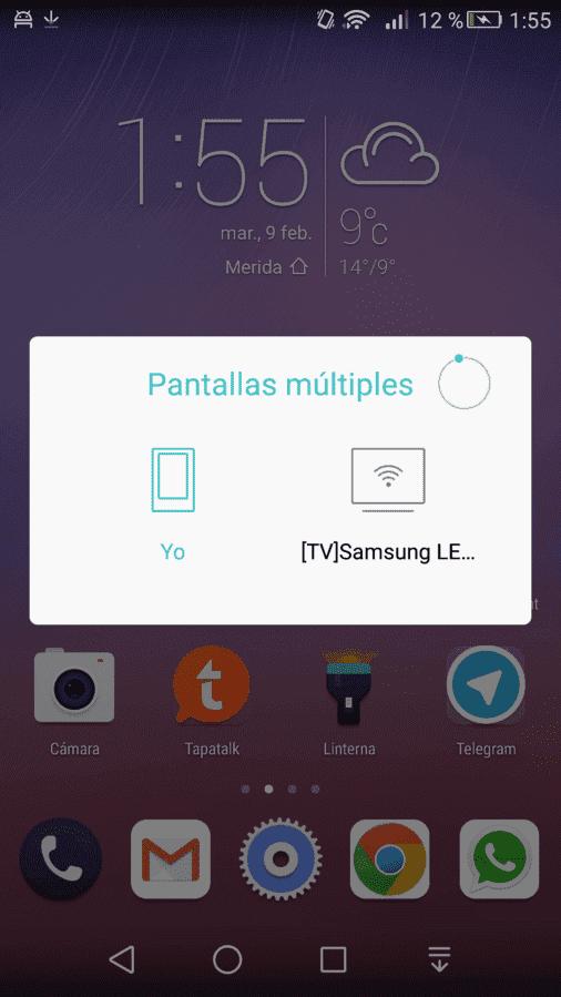 Compartir pantalla.