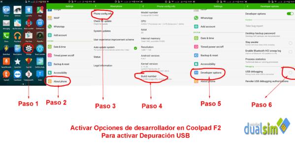 Depuracion Usb F2.