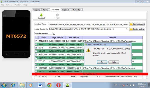 error 4001 finware upgrade v5.