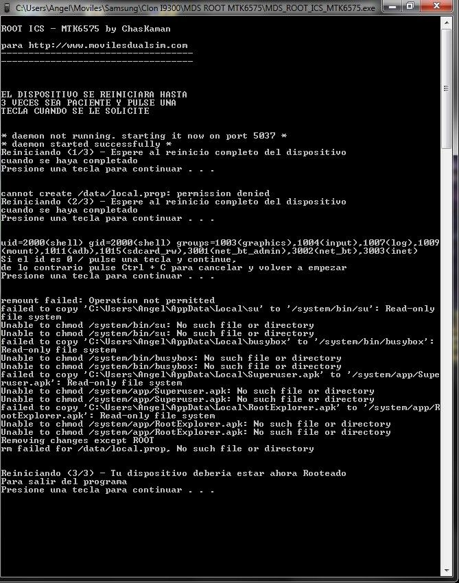Error Root MTK6575.