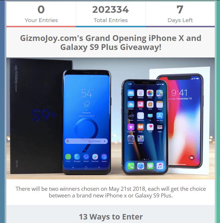 Sorteo Internacional iPhone X and Galaxy S9 Plus Giveaway! gismojoy-png.332042