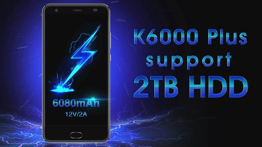 K6000 Plus supports 2TB HDD.