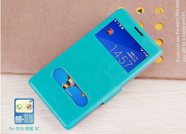 New-Arrival-MOFI-Book-Style-Pu-Leather-Case-for-Huawei-Honor-3C-With-Window-and-Stand.