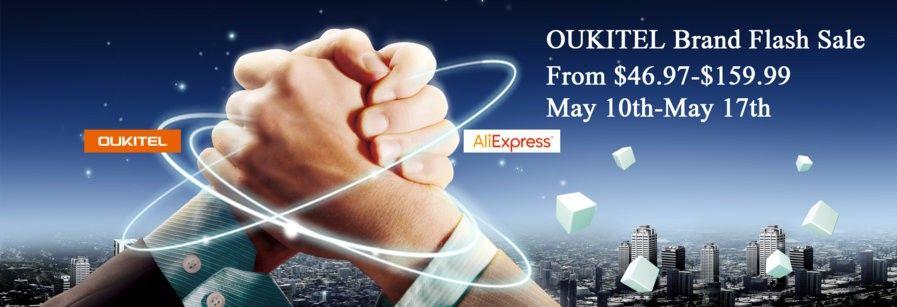 OUKITEL Brand flash sale on Aliexpress.