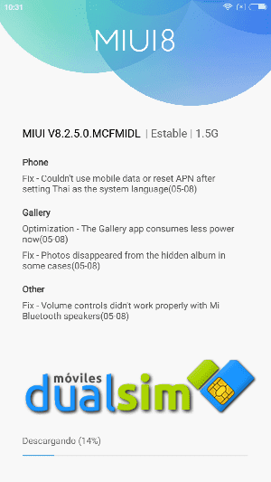 Xiaomi RedMi Note 4 (Global Version): Mi primer Xiaomi. screenshot_2017-05-18-10-31-53-766_com-android-updater-png.288140