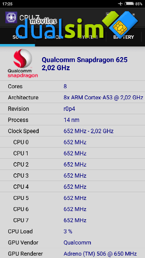 Xiaomi RedMi Note 4 (Global Version): Mi primer Xiaomi. screenshot_2017-05-19-17-25-08-728_com-cpuid-cpu_z-png.288446