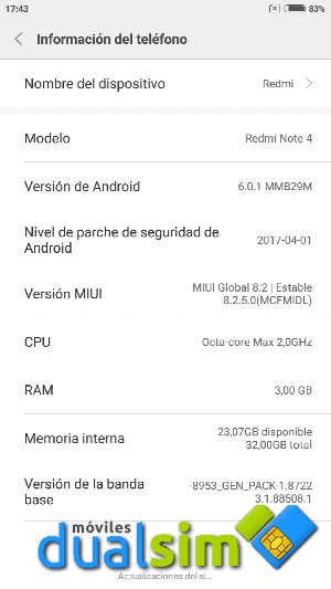 Xiaomi RedMi Note 4 (Global Version): Mi primer Xiaomi. screenshot_2017-05-19-17-43-05-258_com-android-settings-png.288332