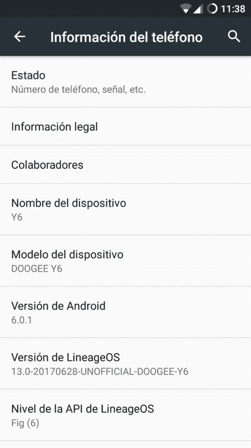 LineageOS_13 Android 6.0.1 [SOLO Doogee Y6] by GLokin666 screenshot_20170630-113833-png.300766