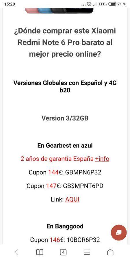 Xiaomi Redmi Note 6 PRO 3/32GB a 147€ y 4/64GB a 170€ screenshot_2018-10-18-15-20-39-856_com-android-browser-jpeg.342215
