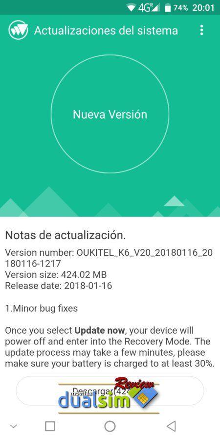 OUKITEL K6 Batería inagotable y Pantalla excelente screenshot_20180128-200147-jpg.323958