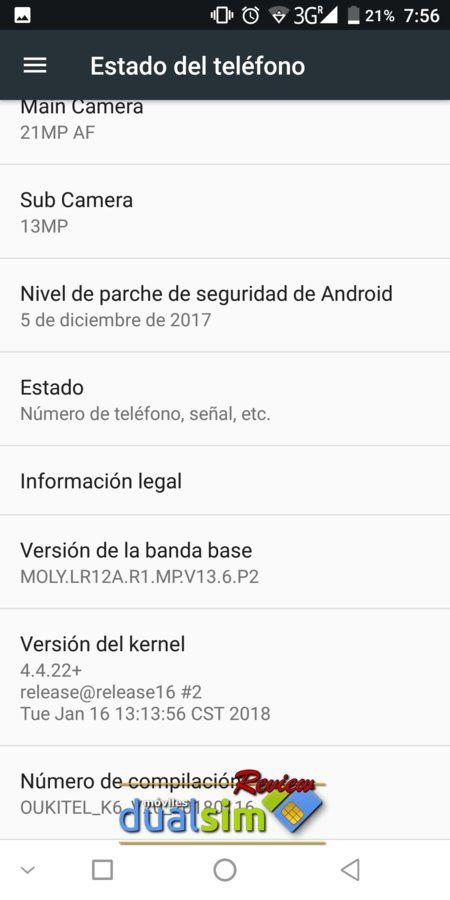 OUKITEL K6 Batería inagotable y Pantalla excelente screenshot_20180202-075609-jpg.323949
