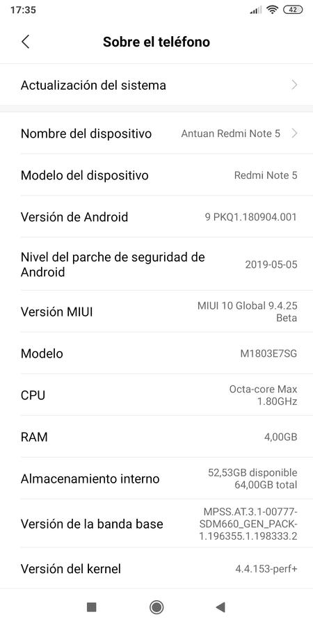 Rom Miui 10 Global para Xiaomi RMN5. Versiones para TWRP y FASTBOOT. Versión actual ESTABLE del 13/05/19. Última Beta PIE del 16/05/19 screenshot_2019-04-25-17-35-35-904_com-android-settings-png.358850