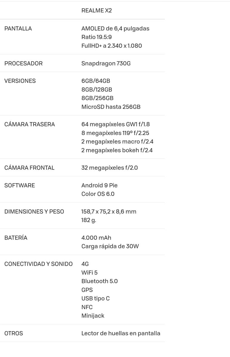 Realme X2: 64 megapíxeles, cuatro lentes y Snapdragon 730G a muy buen precio screenshot_20190924-121512-2-png.370087