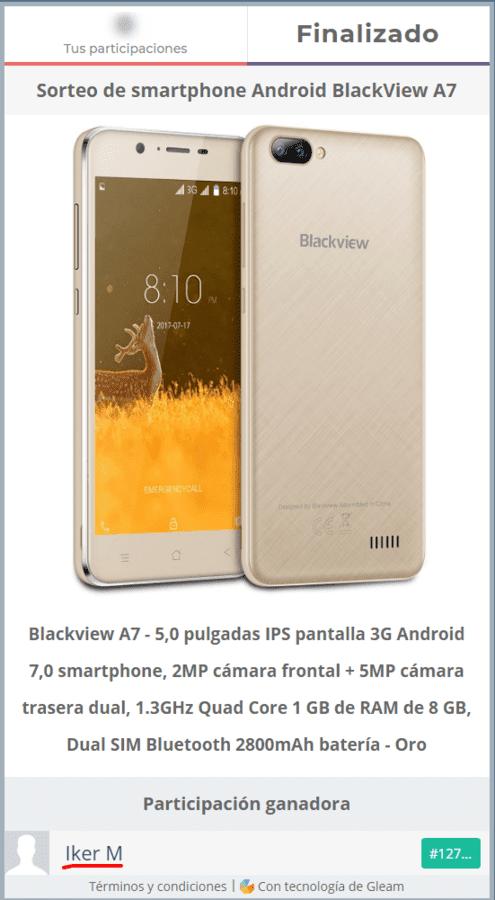 Sorteo internacional Blackview A7 Smartphone.png