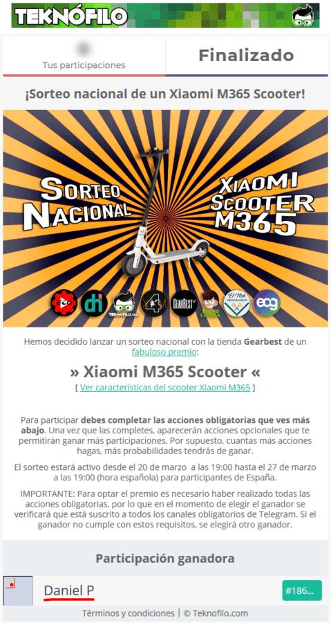¡Sorteo nacional de un Xiaomi Mi Electric Scooter .png