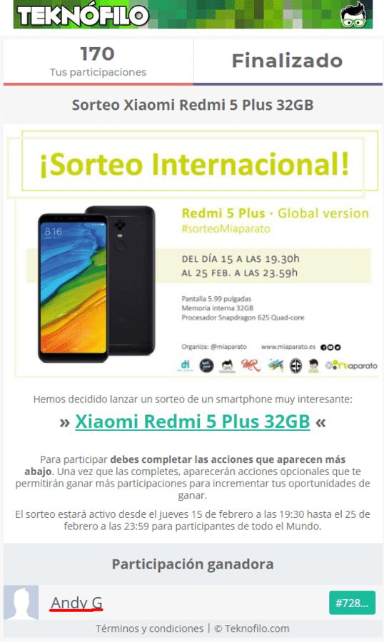 Sorteo Xiaomi Redmi 5 Plus 32GB.png